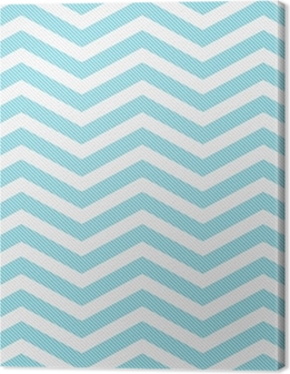 Teal and White Zigzag Textured Fabric Background Premium prints