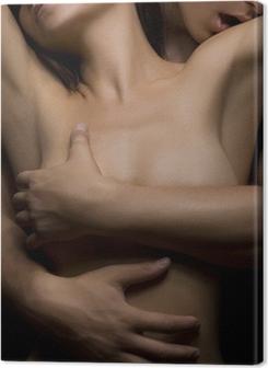 temptation woman and man Premium prints