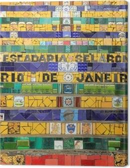 Tiled Steps at lapa in Rio de Janeiro Brazil Premium prints