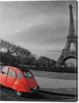 Tour Eiffel et voiture rouge- Paris Premium prints