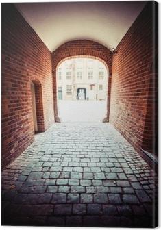 Traditional architecture in famous polish city, Torun, Poland. Premium prints
