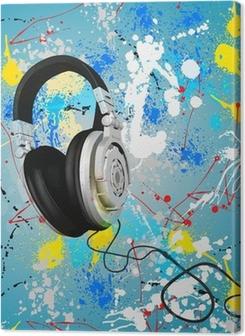 vector abstract headphones composition Premium prints