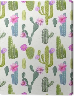 Vector Cactus Background. Seamless Pattern. Exotic Plant. Tropic Premium prints