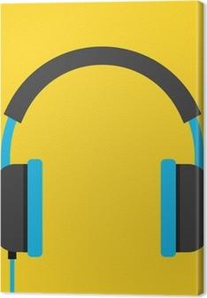 Vector Headphones Icon Premium prints
