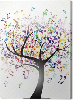 Vector Illustration of an Abstract Background with Music notes Premium prints