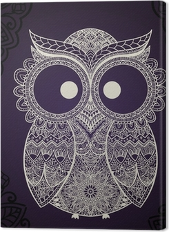 Vector illustration of owl. Bird illustrated in tribal. Premium prints