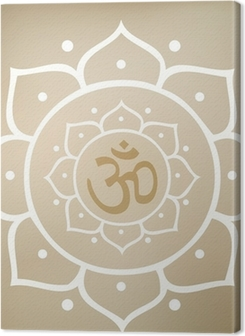 Vector Lotus Mandala with Om Symbol Premium prints