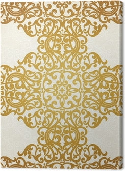 Vector seamless border in Victorian style. Element for design. Premium prints