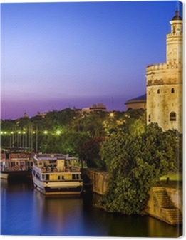 View of Golden Tower (Torre del Oro) of Seville, Andalusia,Spain Premium prints