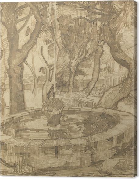 Vincent van Gogh - Fountain in the Garden of the Asylum Premium prints - Reproductions