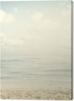 Vintage tropical beach in summer Premium prints