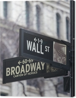 Wall st. street sign, New York, USA. Premium prints