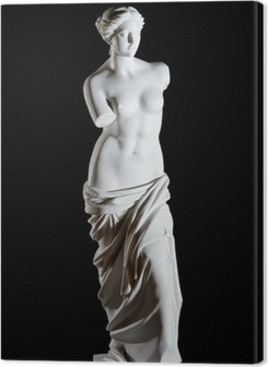 "White marble classic statue ""Aphrodite of Milos"" isolated Premium prints"