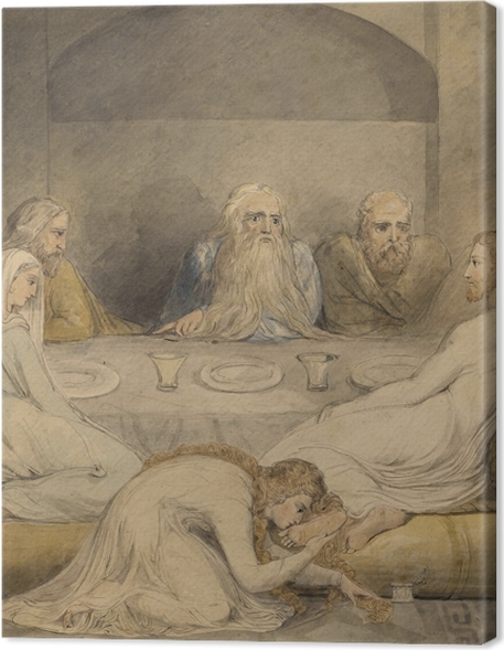 William Blake - Jesus Anointed by a Sinfil Woman Premium prints - Reproductions