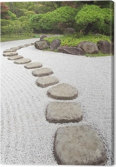 Zen stone path in a Japanese Garden Premium prints