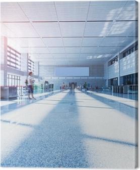 Premiumbilder Interiören i High Speed Rail Station i Kina