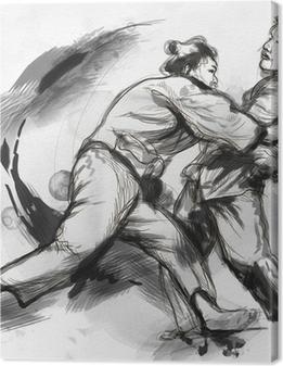 Premiumbilder Judo - en fullstor handritad illustration