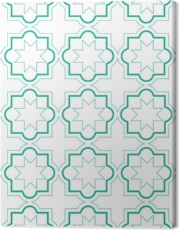 Premiumbilder Marockanska geometriska plattor sömlösa mönster, vektor kakel design, grön och vit bakgrund