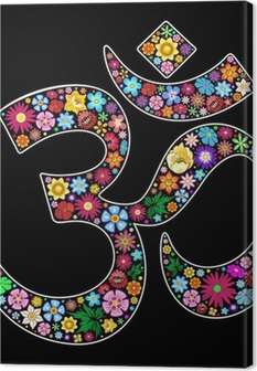 Premiumbilder Om Aum Namaste Yoga Symbol Floral Art Design