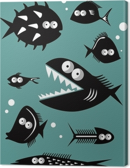 Premiumbilder Set av roliga fiskar