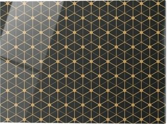 Print op glas Art deco naadloze vintage behang patroon