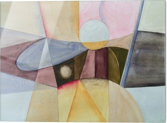 Print op glas Een modernist abstract aquarel