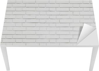 Proteção para Mesa e Secretária white brick wall