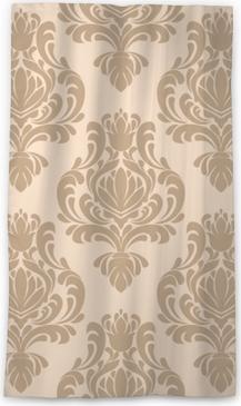 Průsvitný okenní závěs Bezešvé damask retro tapety pro design