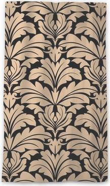 Průsvitný okenní závěs Bezešvé vzor z béžové květinové Arabesque motivy