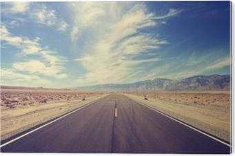 PVC Baskı ABD'de vintage tarzı ülke karayolu, seyahat macera kavramı.