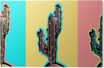 PVC Baskı Pop art kaktüs resimleri ayarlayın.