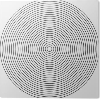 PVC-Bilde Konsentrisk sirkelelement på en hvit bakgrunn