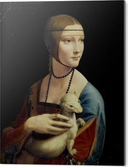 PVC-Bilde Leonardo da Vinci - Damen med hermelinen
