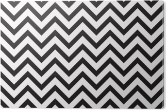 13fe235e PVC-Bilde Vektor moderne sømløs geometri mønster chevron, svart og hvitt  abstrakt geometrisk bakgrunn