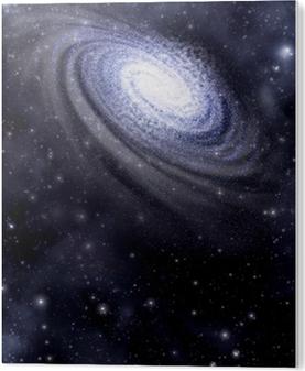 Galaksi ja tähtikenttätausta PVC-muovituloste