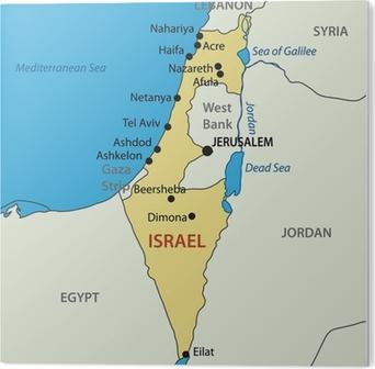 Israelin Vektori Kartta Juliste Pixers Elamme Muutoksille