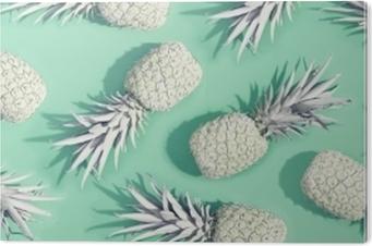 Maalattu ananakset pastellin vihreällä taustalla PVC-muovituloste