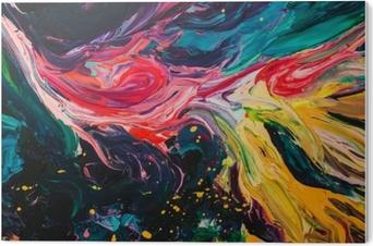 Makro lähikuva eri väri öljymaalia. värikäs akryyli. modernin taiteen käsite. PVC-muovituloste