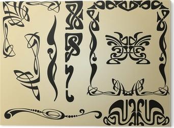 PVC Print Art Nouveau ontwerp kader en elementen