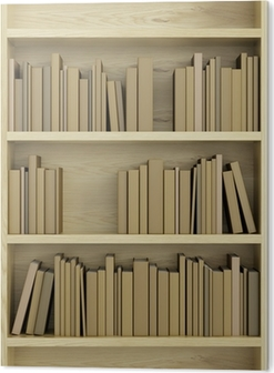 Fotobehang Boekenkast vol met boeken • Pixers® - We leven om te ...