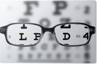 2c91d4acd009 Eyeglasses and eye chart Sticker • Pixers® • We live to change