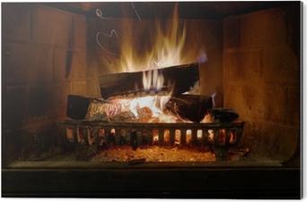 Fireplace PVC Print