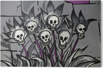 Graffiti Tag Bouquet Têtes Mort Tête