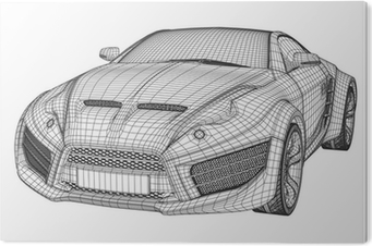 Sports car blueprint non branded concept car wall mural pixers sports car blueprint non branded concept car wall mural pixers we live to change malvernweather Image collections