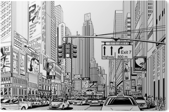 street in New York city PVC Print