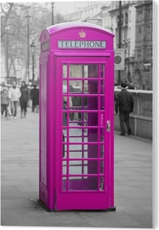 Telephone booth in London PVC Print