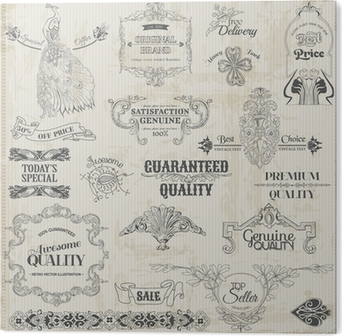 Vector Set Calligraphic Design Elements And Page Decoration PVC Print