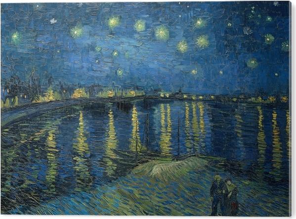 PVC Print Vincent van Gogh - Sterrennacht boven de Rhône - Reproductions