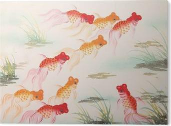 PVC Tavla Chinese guldfisk måla