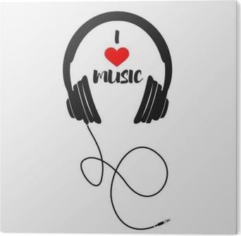 PVC Tavla Jag älskar musik